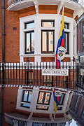 The exterior of the Columbian embassy in Knightsbridge, on 11th April 2019, in London England.