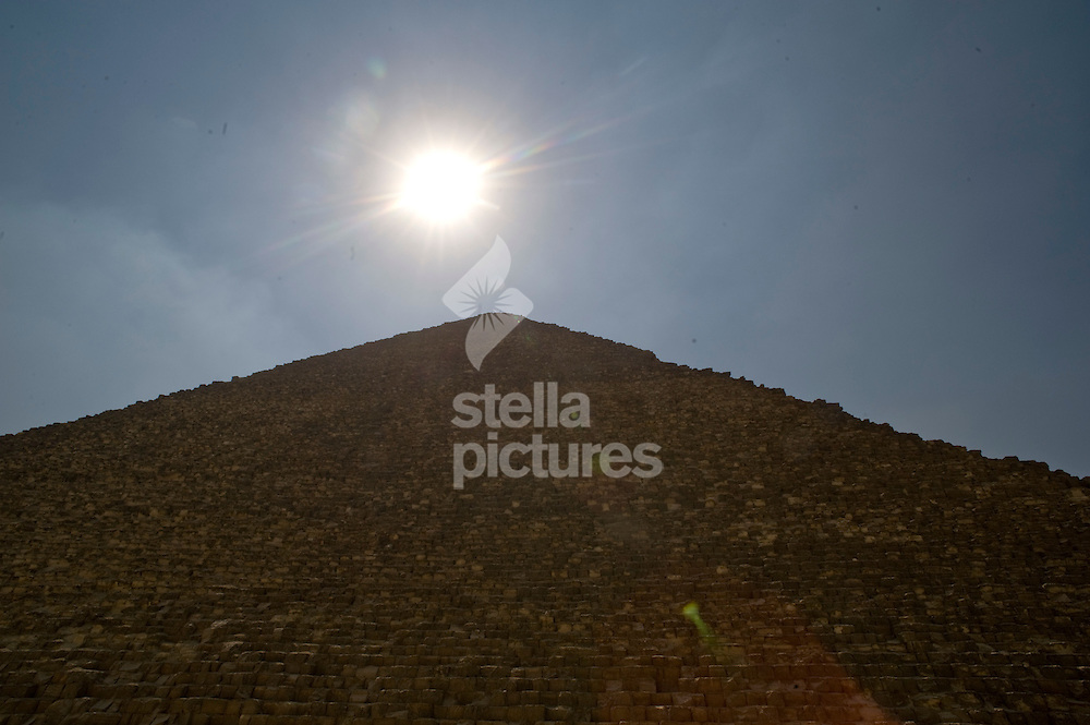 Picture by Daniel Hambury. .24/8/10..One of the three pyramids of Giza, near Cairo in, Egypt.