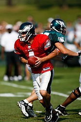 Philadelphia Eagles quarterback Kevin Kolb #4 during the Philadelphia Eagles NFL training camp in Bethlehem, Pennsylvania at Lehigh University on Saturday August 8th 2009. (Photo by Brian Garfinkel)