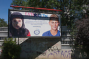 Billboard showing ethnic youth diversity for OFID, in Vienna, Austria, EU. The OPEC Fund for International Development (OFID) is the development finance institution established by the Member States of OPEC in 1976.