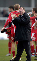 Photo: Jed Wee.<br />Hartlepool United v Bristol City. Coca Cola League 1. 15/04/2006.<br /><br />Bristol City manager Gary Johnson applauds the fans at the end of the game.