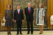 012214 Spanish Royals attend a Meeting with President of the Republic of Colombia