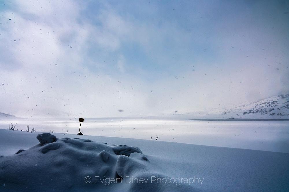 Belmeken lake in winter time