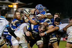 Bath Number 8 Leroy Houston in action at a maul - Photo mandatory by-line: Rogan Thomson/JMP - 07966 386802 - 12/12/2014 - SPORT - RUGBY UNION - Bath, England - The Recreation Ground - Bath Rugby v Montpellier Herault Rugby - European Rugby Champions Cup Pool 4.