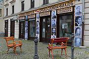 The Slovenian Serbian Club antiquarian Slovene Serbian Club bookshop on Trubarjeva Cesta (street) in the Slovenian capital, Ljubljana, on 28th June 2018, in Ljubljana, Slovenia.