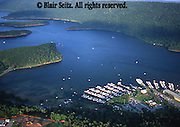 Southwest PA, aerial, Raystown Lake, boat launch Aerial Photograph Pennsylvania