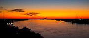 Picturesque sunset above the Mississippi River at Natchez, USA