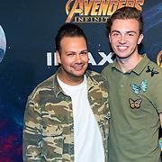 NLD/Amsterdam/20180425 - Première The Avengers: Infinity War, Michiel Verwijjk en ............