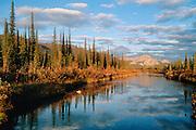Alaska. Unnamed Lake landscape scenic.
