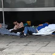UK weather: Homeless in Brighton, UK on July 27 2018.