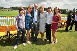 Left to right, the HON.MONTAGUE PEARSON, the HON.ELIZA PEARSON, VISCOUNT & VISCOUNTESS COWDRAY, the HON.PEREGRINE PEARSON and the HON.EMILY PEARSON  at the 2009 Veuve Clicquot Gold Cup Polo final at Cowdray Park Polo Club, Midhurst, West Sussex on 19th July 2009.