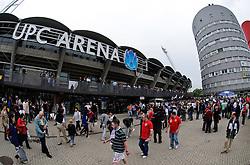 30.05.2010, UPC Arena, Graz, AUT, WM Vorbereitung, Japan vs England, im Bild ein Feature vor dem Stadion vor Spielbeginn, EXPA Pictures © 2010, PhotoCredit: EXPA/ S. Zangrando / SPORTIDA PHOTO AGENCY