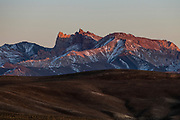 Snow capped mountain scnerey at sunset in the Unesco National Park, Band-E-Amir National Park, Afghanistan