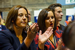 Pictured: Kezia Dugdale was there to celebrate Ian Murray's win in Edinburgh South<br /> The Edinburgh Count and  announcements ended  around 4:30 this morning with weary heads around all parties.<br /> <br /> Ger Harley   EEm 9 June 2017