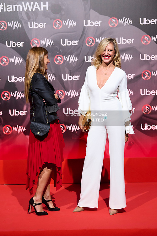 Marta Robles, Adriana Frade attends 'Wah' Musical Show World Premiere Red Carpet at IFEMA on October 7, 2021 in Madrid, Spain