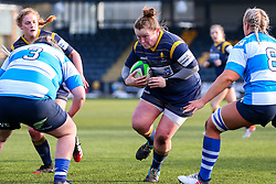 Caryl Thomas of Worcester Warriors Women charges Emily Hunter of DMP Durham Sharks - Mandatory by-line: Nick Browning/JMP - 09/01/2021 - RUGBY - Sixways Stadium - Worcester, England - Worcester Warriors Women v DMP Durham Sharks - Allianz Premier 15s
