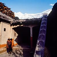 The courtyard of a home in a village in the Kali Gandaki Gorge, below Annapurna in Nepal