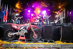 Mi2 band playing during sprejem Tima Gajsreja, on Avgust 27, 2019 in Maribor, Slovenia. Photo by Blaž Weindorfer / Sportida