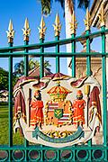 Hawai State Seal, Iolani Palace, Honolulu, Oahu, Hawaii