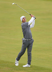Denmark's Thorbjorn Olesen on the 1st during day two of The Open Championship 2017 at Royal Birkdale Golf Club, Southport. PRESS ASSOCIATION Photo. Picture date: Friday July 21, 2017. See PA story GOLF Open. Photo credit should read: Richard Sellers/PA Wire. RESTRICTIONS: Editorial use only. No commercial use. Still image use only. The Open Championship logo and clear link to The Open website (TheOpen.com) to be included on website publishing. Call +44 (0)1158 447447 for further information.
