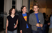 Exhibiting Artists: Michaela Meize, Bjorn Dahlem and Michael Bentler, Heimweh, Young German art, Haunch of Venison Bruton St.  8 September 2004. SUPPLIED FOR ONE-TIME USE ONLY-DO NOT ARCHIVE. © Copyright Photograph by Dafydd Jones 66 Stockwell Park Rd. London SW9 0DA Tel 020 7733 0108 www.dafjones.com