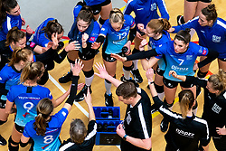 Team Zwolle yell during the first league match between Djopzz Regio Zwolle Volleybal - Laudame Financials VCN on February 27, 2021 in Zwolle.