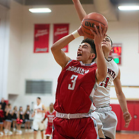 Reyes Herrera(3) drives to the basket for Bernalillo in their game against Grants Tuesday, Dec. 11, at Grants High School. Bernalillo won 59-41.