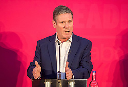 © Licensed to London News Pictures. 01/02/2020. Bristol, UK. KIER STARMER at the Labour Party Leadership Hustings, at Ashton Gate Stadium. Candidates: Emily Thornberry, Lisa Nandy, Kier Starmer, Rebecca Long-Bailey,Photo credit: Simon Chapman/LNP.