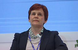 June 1, 2017 - Saint Petersburg, Russia - June 1, 2017. - Russia, Saint Petersburg. - St. Petersburg International Economic Forum (SPIEF) 2017. Panel Session 'Faith in Philanthropy: From Ethical Guidelines to Professional Standards'. In picture: Irina Prokhorova, Co-Founder, Mikhail Prokhorov Foundation  (Credit Image: © Russian Look via ZUMA Wire)