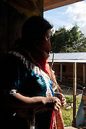 Zapatist woman.<br /> Mujer zapatista.