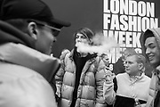 Scene outside Store studios, The Strond, Mens fashion week, London,  , 8 January 2018,