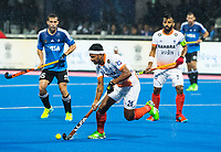 BHUBANESWAR -  Hockey World League finals , Semi Final . Argentina v India. Birendra Lakra (Ind) .  COPYRIGHT KOEN SUYK