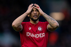 Nahki Wells of Bristol City looks dejected - Mandatory by-line: Daniel Chesterton/JMP - 15/02/2020 - FOOTBALL - Elland Road - Leeds, England - Leeds United v Bristol City - Sky Bet Championship