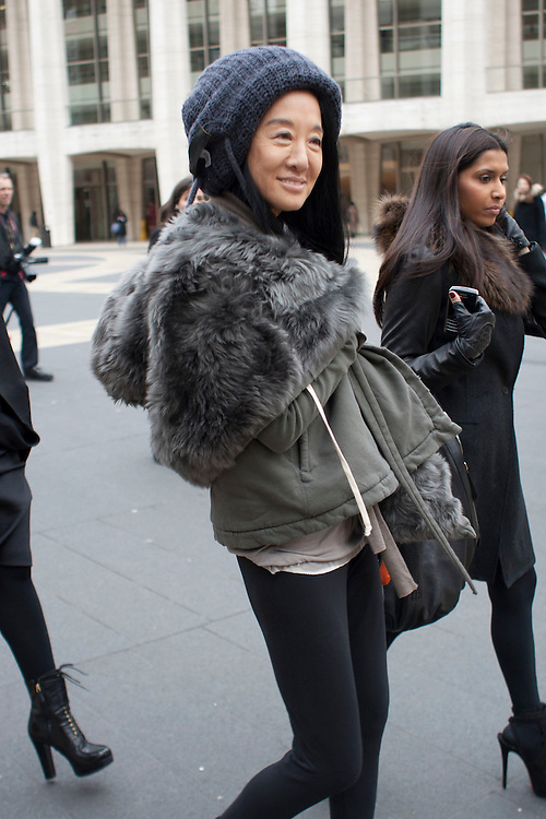 Designer Vera Wang leaves the Lincoln Centre after her show during day five at AW 2012 New York Fashion Week, NY, USA. February 14, 2012.