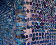 Walls of the Bottle House built in 1906 by miner Tom Kelly using some 50,000 beer and liquor bottles, ghost town of Ryholite, Nevada.