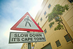 March 18, 2013 - Slow down? crossing sign in Cape Town (Credit Image: © Cultura via ZUMA Press)