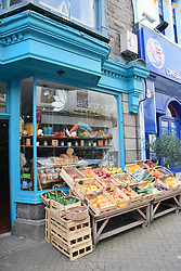 Organic greengrocer, Penzance, Cornwall UK