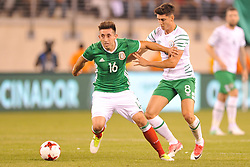 June 1, 2017 - East Rutherford, New Jersey, U.S - Mexico midfielder HÉCTOR HERRERA (16) in action with Republic of Ireland CALUM O'DOWDA (8) during an international friendly match at Met Life Stadium in East Rutherford New Jersey Mexico defeats Republic of Ireland 3 to 1 (Credit Image: © Brooks Von Arx via ZUMA Wire)