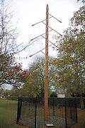 Molesey Surrey.  The Eights Tree, erected on the side of the River Thames at Molesey Surrey close to Molesey Boat Club. Wednesday  11/11/2009   [Mandatory Credit Peter Spurrier/ Intersport Images]