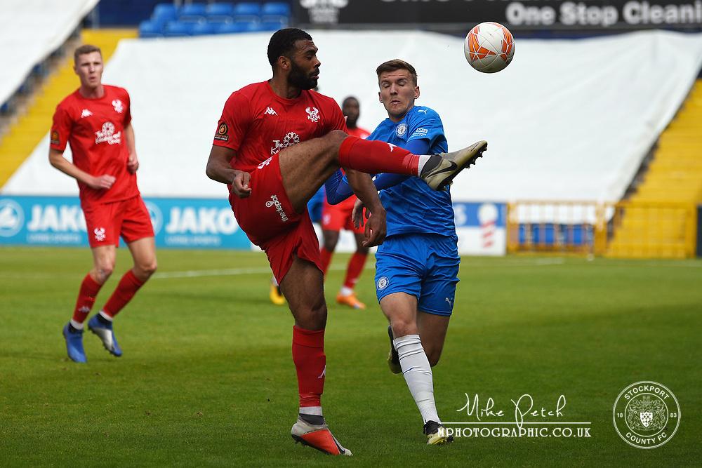 Mark Kitching. Stockport County 2-1 Kidderminster Harriers. Pre-Season Friendly. 28.9.20