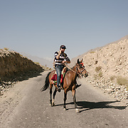 Horseman on the Pamir highway. Sights and places to see while walking along the Tajikistan side of the Wakhan Corridor.