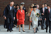 State Visit of the presidentof Chili , Michelle Bachelet to the Netherlands.<br /> <br /> On the photo:<br /> <br /> Presedent of Chili, Michelle Bachelet, Queen Beatrix and Princes Maxima arrive at the Universaty in Wageningen.