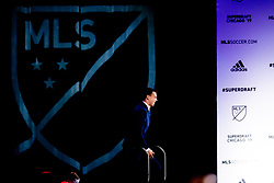 January 11, 2019 - Chicago, IL, U.S. - CHICAGO, IL - JANUARY 11: Callum Montgomery is selected as the number four overall pick to FC Dallas in the first round of the MLS SuperDraft on January 11, 2019, at McCormick Place in Chicago, IL. (Photo by Patrick Gorski/Icon Sportswire) (Credit Image: © Patrick Gorski/Icon SMI via ZUMA Press)