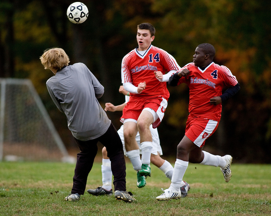 The Master's School, West Simsbury, CT. 2010-2011. Boy's Varsity Soccer.  (Photo by Robert Falcetti). .