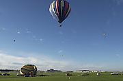 Albuquerque New Mexico - Sandia Mountains and Balloons.