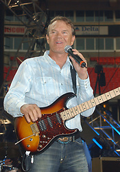 """08 August 2017 - Various - Glen Campbell, the voice behind 21 Top 40 hits including """"Rhinestone Cowboy,"""" """"Wichita Lineman"""" and """"By the Time I Get to Phoenix,"""" died Tuesday. He was 81. During a career that spanned six decades, Campbell sold over 45 million records. In 1968, he outsold the Beatles. Campbell was married four times, and has five sons and three daughters. In the early 1980s, while battling alcoholism and cocaine addiction, Campbell made tabloid headlines with a 15-month, high-profile relationship with country singer Tanya Tucker, who was 22 years his junior. In 1981, he became a born-again Christian and in 1982 he married Kimberly Woollen, a Radio City Music Hall Rockette. In 2003, he was arrested for a hit-and-run, an incident that ended with him allegedly kneeing a police officer in the thigh right before he was released. Campbell pleaded guilty to extreme drunken driving and leaving the scene of an accident, and spent 10 days in jail. In 2011, Campbell, then 75, revealed that he was diagnosed with Alzheimer's disease. In June of that year, he announced he was retiring from music due to the disease. He released his final album of original music Ghost and embarked on a farewell tour with three of his children backing him. File Photo: June 13, 2004; Nashville, TN, USA; Singer GLEN CAMPBELL during the 2004  CMA Music Festival held at the Coliseum. Glen Campbell, who pleaded guilty last month to extreme drunken driving and leaving the scene of an accident, had his sentence delayed so he could perform Sunday at the CMA Music Festival. Photo Credit: Photo by Laura Farr/AdMedia *** Please Use Credit from Credit Field ***"""