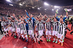 May 9, 2018 - Rome, Italy - Juventus players celebrate the victory of the trophy after the TIM Cup - Coppa Italia final match between Juventus and AC Milan at Stadio Olimpico, Rome, Italy on 9 May 2018. (Credit Image: © Giuseppe Maffia/NurPhoto via ZUMA Press)