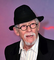 January 27, 2017 - File - Hollywood legend JOHN HURT, Two-time Oscar nominee and Elephant Man actor dead at age 77 after battling cancer and suffering intestinal complaint. The Elephant Man star had a career which spanned more than six decades. Hurt had recently starred in the Oscar nominated biopic, Jackie. The English actor was born in Derbyshire and became a critical and commercial success in films like Midnight Express, Alien and Tinker Tailor Soldier Spy. Pictured:  Jan. 14, 2016 - London, Greater London, United Kingdom - Image ©Licensed to i-Images Picture Agency. 15/01/2016. London, United Kingdom. The Revenant UK film premiere. John Hurt attends film drama about a frontiersman on a fur trading expedition in the 1820s who is on a quest for survival after being brutally mauled by a bear.Picture by Nils Jorgensen / i-Images (Credit Image: © Nils Jorgensen/i-Images via ZUMA Wire)