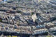 Nederland, Noord-Holland, Amsterdam, 27-09-2015; Dam met Koninklijk Paleis en Nieuwe Kerk. Damrak met Bijenkorf, Amsterdamse effectenbeurs (Euronext) en Beurs van Berlage <br /> Heart of Amsterdam, area around Dam Square with Royal Palace.<br /> luchtfoto (toeslag op standard tarieven);<br /> aerial photo (additional fee required);<br /> copyright foto/photo Siebe Swart