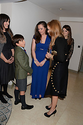 JACK REA, BECKY ? and PRINCESS BEATRICE OF YOR at Fashion For The Brave at The Dorchester, Park Lane, London on 8th November 2013.